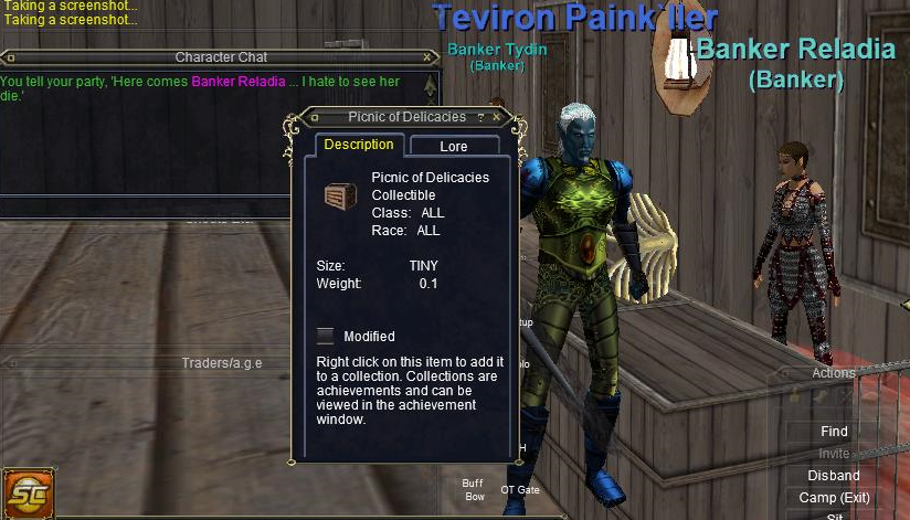 Putting active links in EverQuest hotkeys